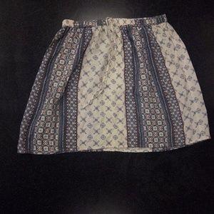 Hollister Boho Floral Drawstring Miniskirt